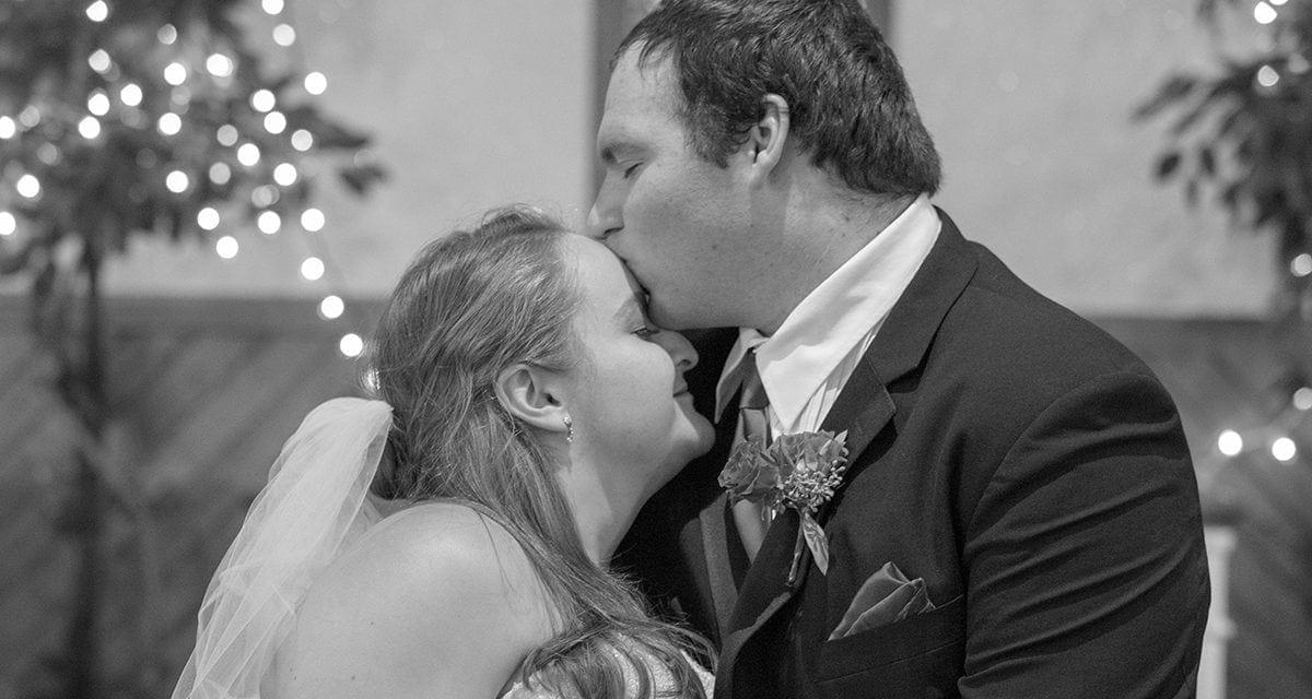 Dever Boston Wedding Bride and Groom Embrace Black & White