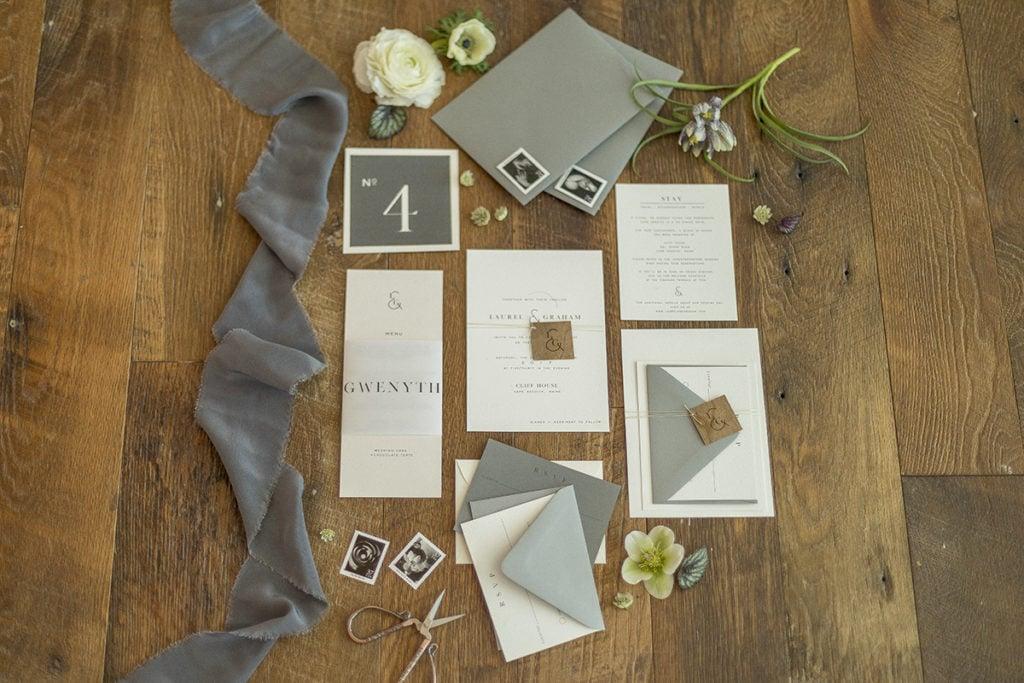 Cliff House Cape Neddick Maine Wedding Invitation Suite