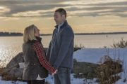 Sebasco Harbor Phippsburg Maine Engagement Session Couple Holding Hands